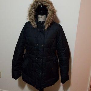 Krush Faux Fur Hooded Winter Puffer Coat